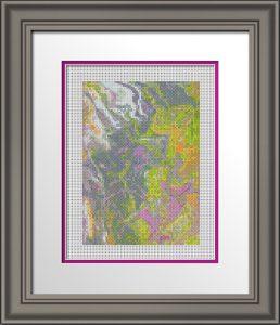 Acrylic Pour 20 - Framed