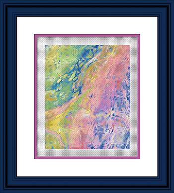 Acrylic Pour 46 Framed