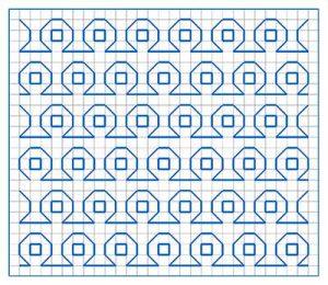 Newsletter Blackwork Pattern 21