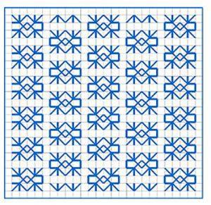 Newsletter Blackwork Pattern 27