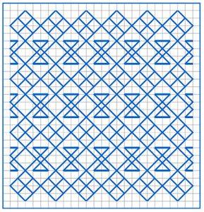 Newsletter Blackwork Pattern 32