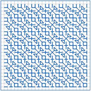 Newsletter Blackwork Pattern 41