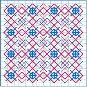 Newsletter Blackwork Pattern 42
