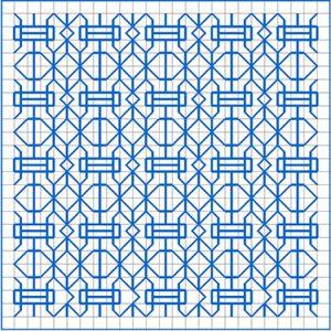 Newsletter Blackwork Pattern 44