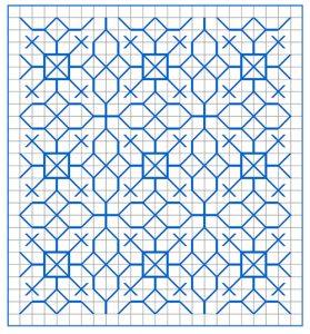 Newsletter Blackwork Pattern 57