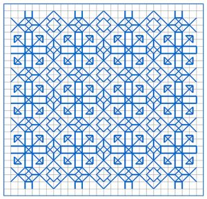 Newsletter Blackwork Pattern 58